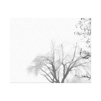 霧深い朝の木 キャンバスプリント