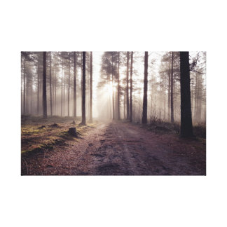 霧深い朝 キャンバスプリント