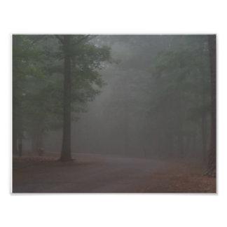 霧深い朝 フォトプリント