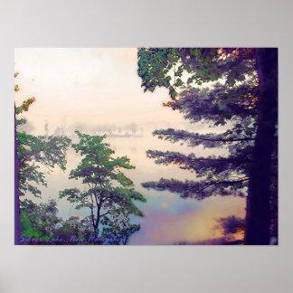 霧深い朝 ポスター