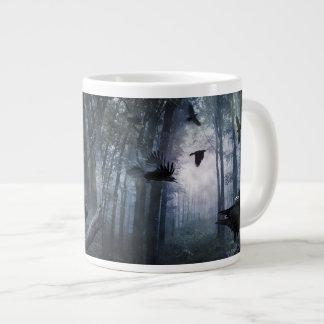 霧深い森林はジャンボマグ鳴きます ジャンボコーヒーマグカップ