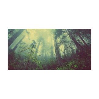 霧深い森林キャンバス キャンバスプリント