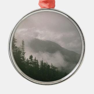 霧深い森林 メタルオーナメント