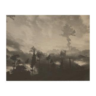 霧深い森林I木壁の芸術 ウッドウォールアート