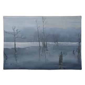 霧深い水 ランチョンマット