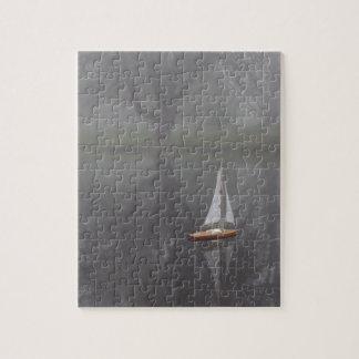 霧深い池の帆 ジグソーパズル