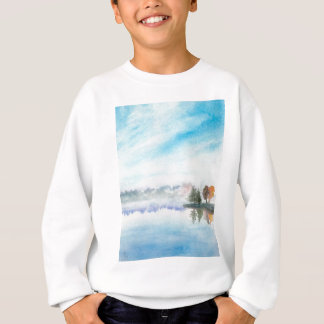 霧深い湖 スウェットシャツ