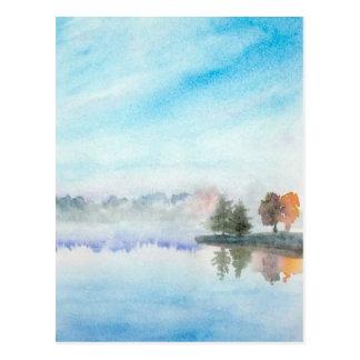 霧深い湖 ポストカード