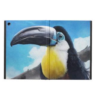 霧深い空気デジタル熱帯鳥の絵画のToucan iPad Airケース