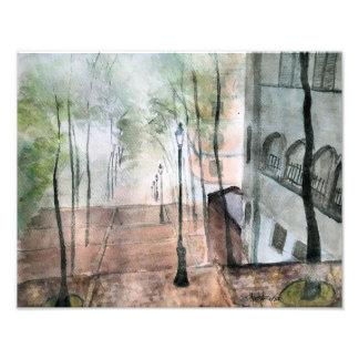 霧深いMontmartreの写真のプリント フォトプリント