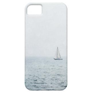 霧深く青い海水帆ボートのヨット iPhone SE/5/5s ケース