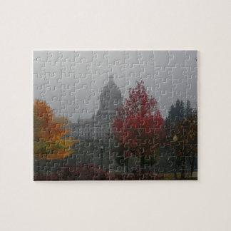 霧-写真のワシントン州の国会議事堂 ジグソーパズル