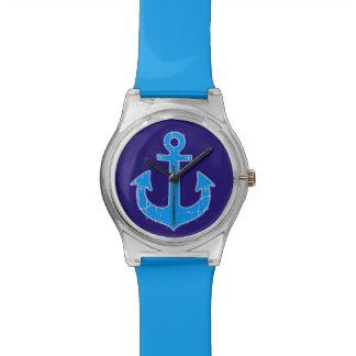 青いいかり海軍 腕時計