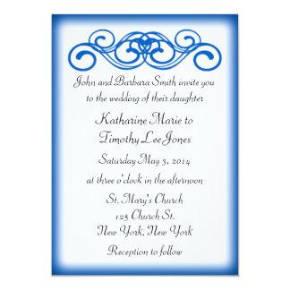 青いおとぎ話スクロール結婚式 カード
