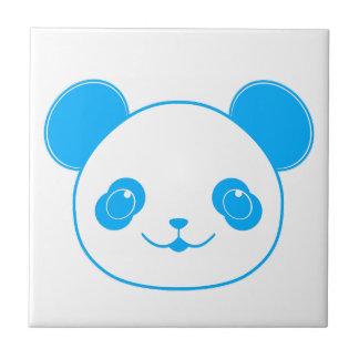 青いかわいいのパンダくま タイル