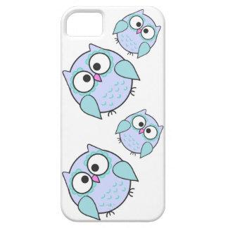 青いかわいいのフクロウのiPhoneの5/5S電話箱 iPhone SE/5/5s ケース