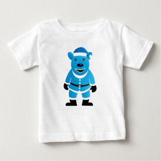 青いくまのベビー及び幼児のTシャツ ベビーTシャツ