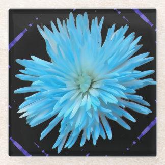 青いくものミイラガラスのコースター ガラスコースター