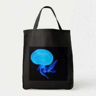 青いくらげの深海の創造物の写真旅行 トートバッグ