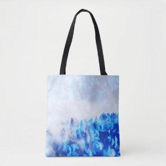 青いくらげ山-トートまたは十字の遺体袋 トートバッグ