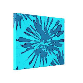 青いしぶきのデザインの包まれたなキャンバス キャンバスプリント