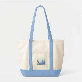 青いしぶきのバッグ トートバッグ