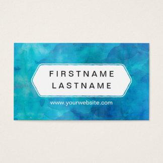 青いしぶき-モダンな水色 名刺