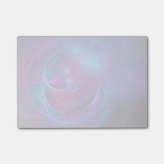 青いすみれ色およびピンクの宇宙渦巻形のなフラクタル ポスト・イット®ノート