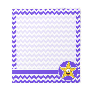 青いすみれ色のシェブロン; ヒトデ ノートパッド