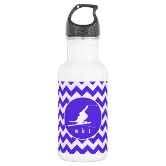 青いすみれ色のシェブロン; 雪のスキー ウォーターボトル