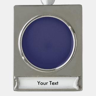 青いすみれ色のテンプレート シルバープレートバナーオーナメント