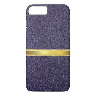 青いすみれ色の革皮の質のiPhone 7の箱 iPhone 8 Plus/7 Plusケース