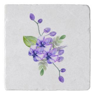 青いすみれ色水色の蘭Trivet トリベット