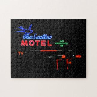 青いつばめのモーテルの印、ルート66、Tucumcari、N.M. ジグソーパズル