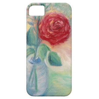 青いつぼの独身ので赤いバラ iPhone SE/5/5s ケース