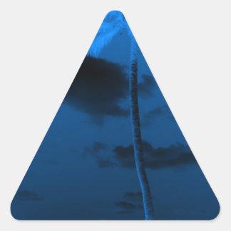 青いやし 三角形シール