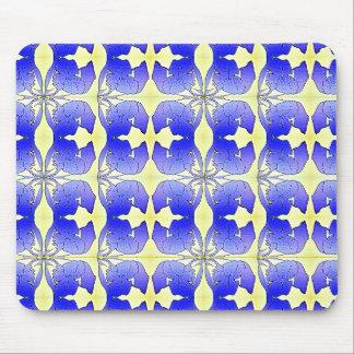 青いアイリス氏抽象芸術 マウスパッド