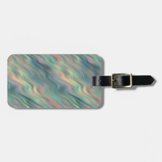 青いアイリス波状の質 ラゲッジタグ