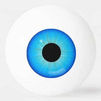 青いアイリス眼球 卓球ボール
