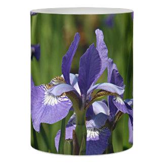 青いアイリス花 LEDキャンドル