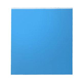 青いアクリル色の調子は深さnの優雅を示します ノートパッド
