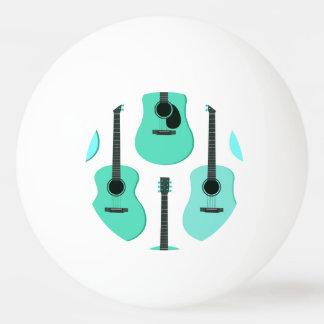 青いアコースティックギターパターン 卓球ボール