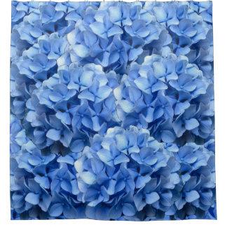 青いアジサイのシャワー・カーテン シャワーカーテン
