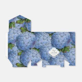 青いアジサイのパーティの記念品箱 フェイバーボックス