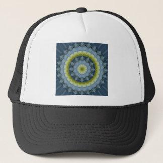青いアジサイの曼荼羅のイメージ3 キャップ