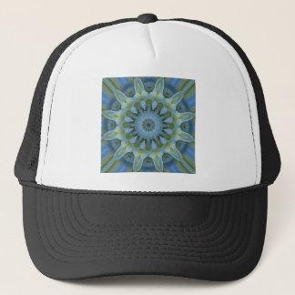 青いアジサイの曼荼羅 キャップ