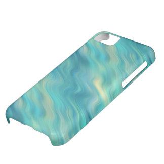 青いアジサイの波状の質 iPhone5Cケース