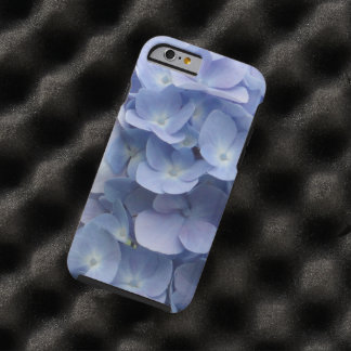 青いアジサイの花びら ケース