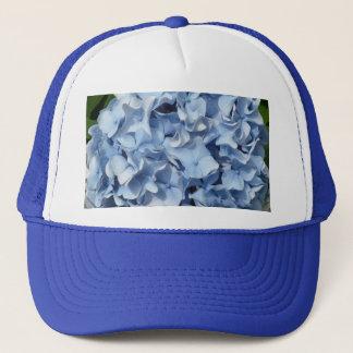 青いアジサイの花 キャップ