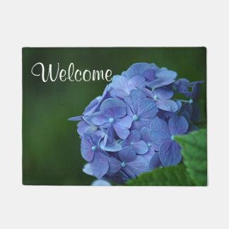 青いアジサイの花 ドアマット